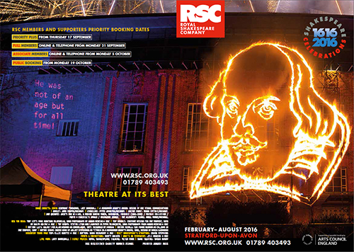 RSC Summer Theatre Schedule 2016 in Stratford-upon-Avon